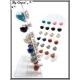 Boucles d'oreilles - Globe billes - Asymétrie - Multicolor - Plaque de 12