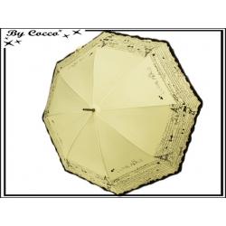 Parapluie - Canne - Liseré dentelle - Paris - Ecru / Noir