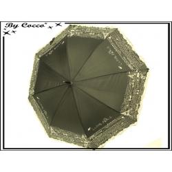 Parapluie - Canne - Liseré dentelle - Paris - Noir / Ecru