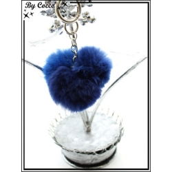Bijoux de Sacs - Stella Green - Triple pompons - Bleu