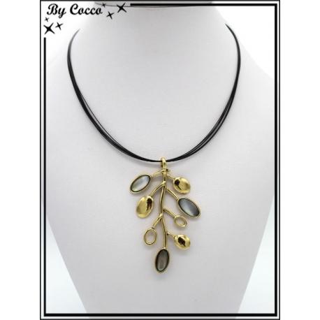 Collier - Branches dorés - Perles nacrés