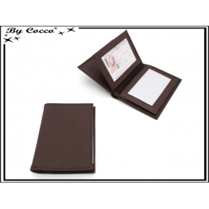 Portefeuille - Grand modèle - Chocolat