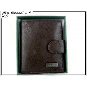 Petit Porte-monnaie carré cuir - Chocolat