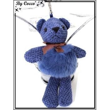 Bijoux de sacs - Ours - Bleu roi