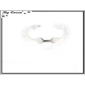 Bracelet jonc - Petits ronds - Argent