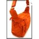 Besace - Tissu déperlant - Double poches rabat - Double Zip - Orange