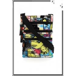 Besace - Zip - Couverture de magazines - Multicolor