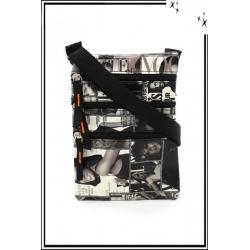 Besace - Zip - Couverture de magazines - Noir / Blanc