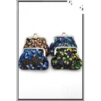 Petit porte-monnaie souple - Fleurs x4