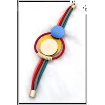 Bracelet - Caoutchouc - Ronds - Multicolor
