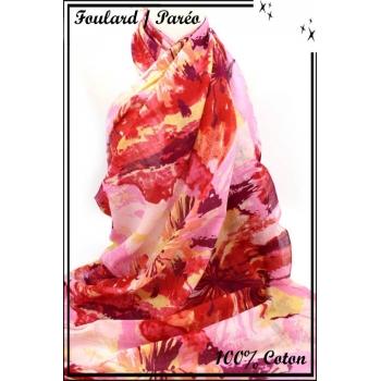 Paréo - Fleurs - Tons roses