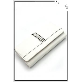 Portefeuille - Tressé - Blanc