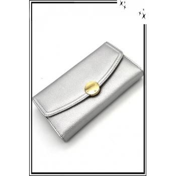 Portefeuille - Pression dorée - Argent