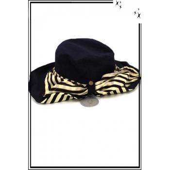 Chapeau  - Haute qualité - Cache nuque amovible - Bleu marine