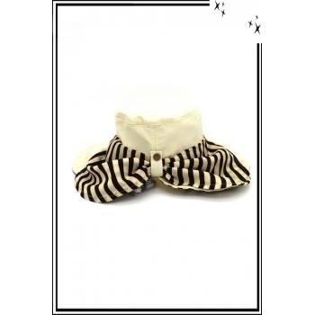 Chapeau  - Haute qualité - Cache nuque amovible - Beige