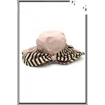 Chapeau - Haute qualité - Cache nuque amovible - Marron glacé