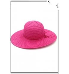 Chapeau  - Haute qualité - Liseré cordelette - Rose