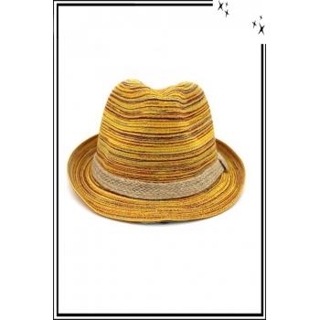 Chapeau  - Haute qualité - Liseré corde - Tons jaunes