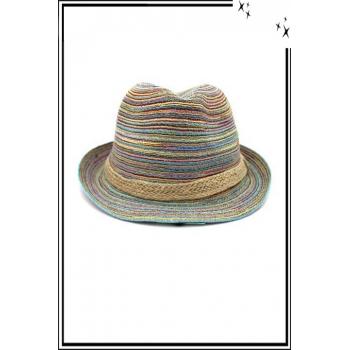 Chapeau  - Haute qualité - Liseré corde - Multicolor