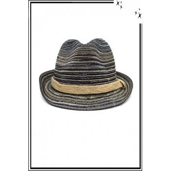 Chapeau  - Haute qualité - Liseré corde - Tons bleu
