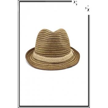 Chapeau - Haute qualité - Liseré corde - Tons marrons
