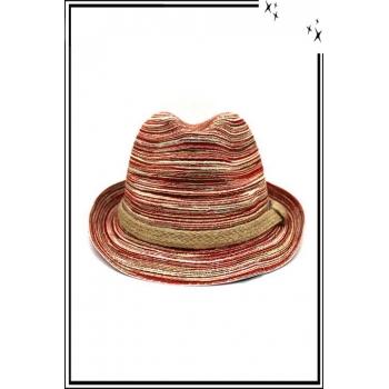 Chapeau  - Haute qualité - Liseré corde - Tons rouge