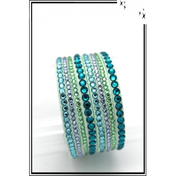 Bracelet - Double tour - Bi-color - Vert d'eau