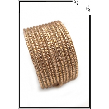 Bracelet - Double tour - Beige