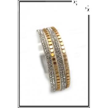 Bracelet - Double tour - Fermeture aimant - Argent / Or