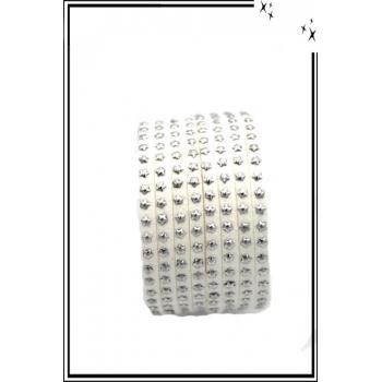 Bracelet - Double tour - Etoiles - Blanc