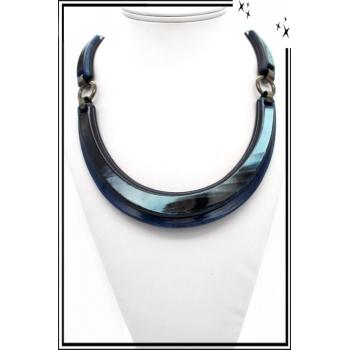 Collier - Résine - Bleu
