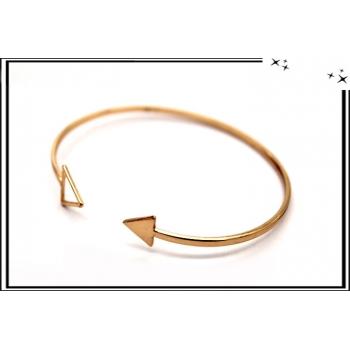Bracelet - Jonc - Flèche - Cuivré