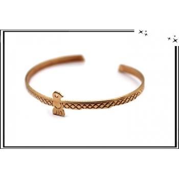 Bracelet - Jonc - Oiseau - Cuivré