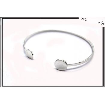 Bracelet - Jonc - Rond - Argent