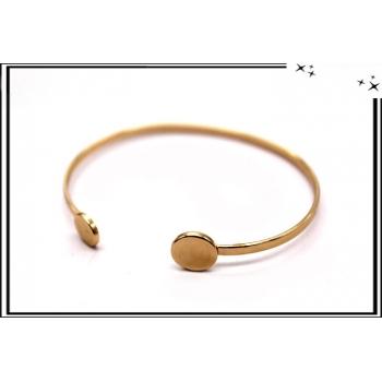 Bracelet - Jonc - Rond - Doré