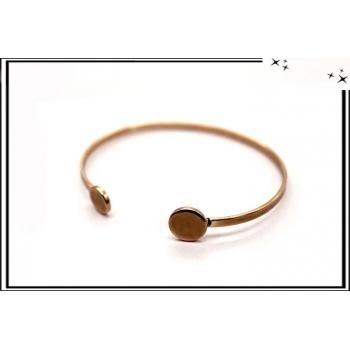 Bracelet - Jonc - Rond - Cuivré