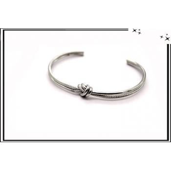 Bracelet - Jonc - Noeud - Argent