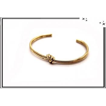 Bracelet - Jonc - Noeud - Doré