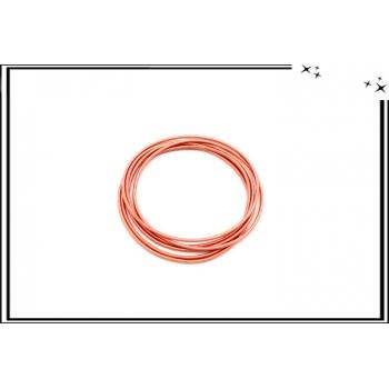 Bracelets - Elastiques - Ressort - Rosé x6