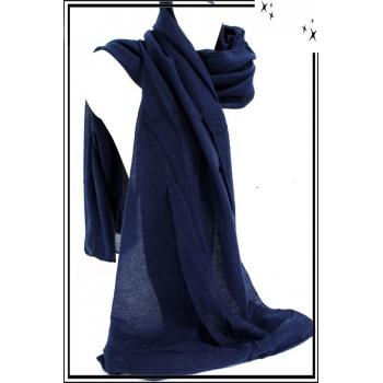 Foulard - Uni - Bleu marine