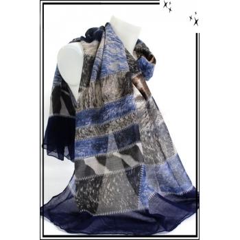 Foulard - Pièces de tissus - Moucheté - Bleu