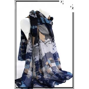 Foulard - Carrés tailles diverses - Bleu marine