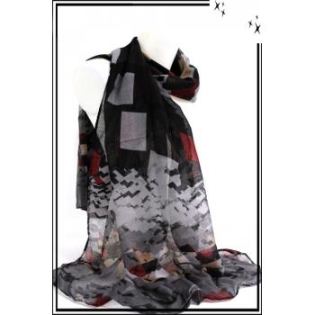 Foulard - Carrés tailles diverses - Noir