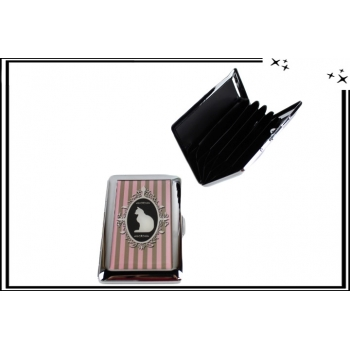 Porte-cartes - Rigide - 6 compartiments - Chat