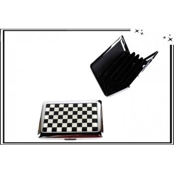 Porte-cartes - Rigide - 6 compartiments - Damier