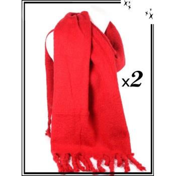Echarpe - Douche - Unie - Rouge x2
