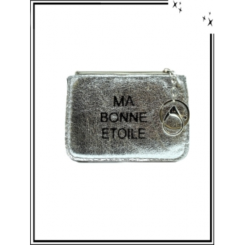 Petite pochette - Porte-clé - Message - MA BONNE ETOILE - Argent