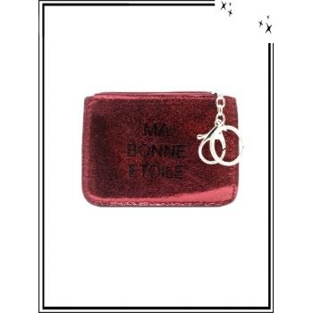 Petite pochette - Porte-clé - Message - MA BONNE ETOILE - Rouge