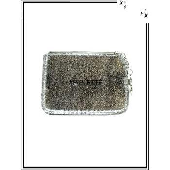 Petite pochette - Porte-clé - Message - PIPLETTE - Argent