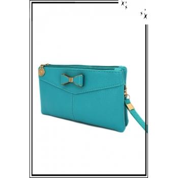 Pochette - Noeud - Turquoise